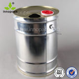 25L Polished Silver Metal Oil Drum with Oil Lid