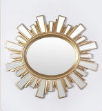 European Style Resin Mirror Frame in Antique Gold Finish for Home Decoration
