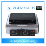 H. 265 Broadcasting Equipment Decoder DVB S2 DVB T2/C with IPTV Zgemma H5