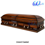 Golden Trim New Product Ameircan Local Coffin and Casket