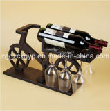 Art Design Wood Wine Display Rack/Unique Art Wooden Wine Display Rack/Wine Display Rack Cx-Cr08