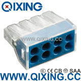 8 Gang Wago Type Plug Clamp Connector for Junction Box