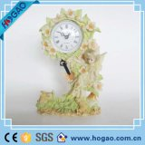 Pink Sweet Flower Novelty Design Resin Pendulum Wall Clock