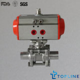 Stainless Steel Sanitary Pneumatic Ball Valve with Weld Ends