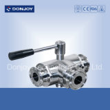 Ss 304 Sanitary DIN Threaded Ball Valve (3-Way)