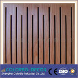 Church Soundproof Wooden Grooved Acoustic Wall Panel