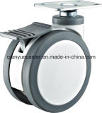 3 -5 Inch Plastic Swivel Medical Twins Wheels Hospital Trolley Wheel Caster