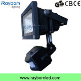 Hot Sale High Power 10W/20W/30W/50W Black LED PIR Sensor Floodlight