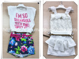 Kids Dress Short Sleeve and Shorts Suit for Girl
