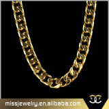 18K Gold 316L Stainless Steel Cuban Link Chain Necklace Mjcn044