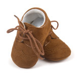 Baby Boys and Girls Non-Slip First Walkers, Soft Sole PU Leather Baby Shoes
