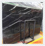 Wholesale Polished/ Honed Chinese Black Marble Slab for Countertop and Tile