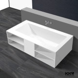 Kkr Factory Solid Surface Stone Resin Corian Freestanding Bath Tub