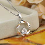 Hot Sale 925 Sterling Silver Pendant Necklace, Zirconia Jewelry for Women Girls
