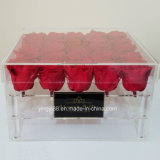 New Clear Acrylic Flower Box for 9, 16, 25, 36 Real Roses