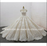 Cap Sleeves Bridal Gowns Lace 3D Flowers Puffy 2018 Wedding Dresses Z8020