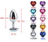 Big Heart Shape Diamond Stainless Steel Metal Wireless Anal Plug