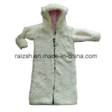 Thick Cashmere Hooded Kids Coat