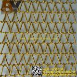 Decorative Spiral Weave Mesh Architectural Conveyor Belt