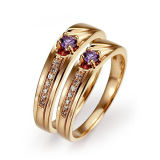 Wedding Ring Set 925 Silver Jewelry Micro Setting CZ