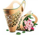 Kraft Paper Printing Portable Basket Box for Flowers
