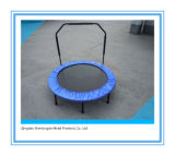 40-Inch Indoor Fitness Trampoline with Adjustable Stability Bar