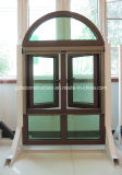 2016 New Style UPVC Casement Window with Wooden Color (TS-079)