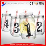Wholesale Custom 16 Oz Mason Jars with Lid and Straws