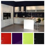 Glossy Lacqure L Shaper Kitchen Cabinets (zhuv)