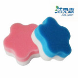 Two Layer Flowers Shape Melamine Foam Sponge