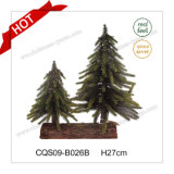 H27cm Party Supplies Glass Plastic Craft Christmas Tree for Mall