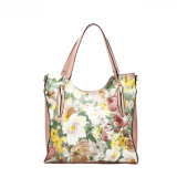 Flower Print Fashion Ladies Shoulder Bags (MBNO038073)