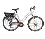 Fashion Urban Electric Bicycle with Rear Rack Li-Battery