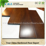 Cherry Stain UV Lacquered Taun Solid Wood Flooring