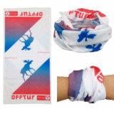 Factory OEM Produce Custom Logo Printed Multifunctional Polyester Tubular Scarf