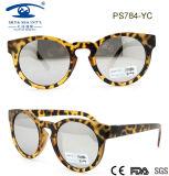 Round Plastic Sunglass, Mirror Lens Sunglass for Woman, Promotion Sunglass