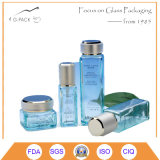 Square Glass Bottle with Metal Cap for Perfume, Cosmetics Packing