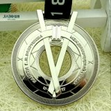Custom Designed Hollow out Silver Russian Olympic Medal Table