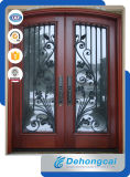 Decorative, Gap, Black Powder Coated, Arched, Safety, Tall Garden Side Gate, Metal Gate, Security Wrought Iron Gate
