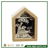 Handmade Decoration Wooden Music Box with House Shape