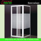 Hot Square Simple Fiber Tempered Glass Shower House (TL-418)