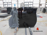 Shanxi Black Granite Jesus Carving Headstone / Monument