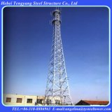 Telecommunications GSM Microwave Antenna 4-Legged Tubular Tower