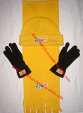 Promotion Polar Fleece Warm Set Beanie Cap with Glove Scarf
