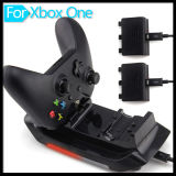LED Light 2 Rechargeable Battery Packs Charger + USB Cable + Dual Controller Charging Dock Station for xBox One Wireless Controller Game Console