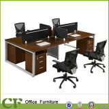 Black Partition Office Workstation with Steel Frame