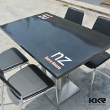 Rectangular Livning Room Furniture Solid Surface Dining Table