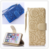 Luxury C-Style Pressure Camellia Leather Phone Case for Samsung