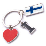 New Custom Metal Souvenir Finland Keyring