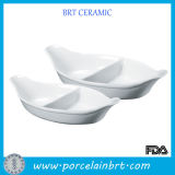 Boat Shaped White Ceramic Plates Dishes